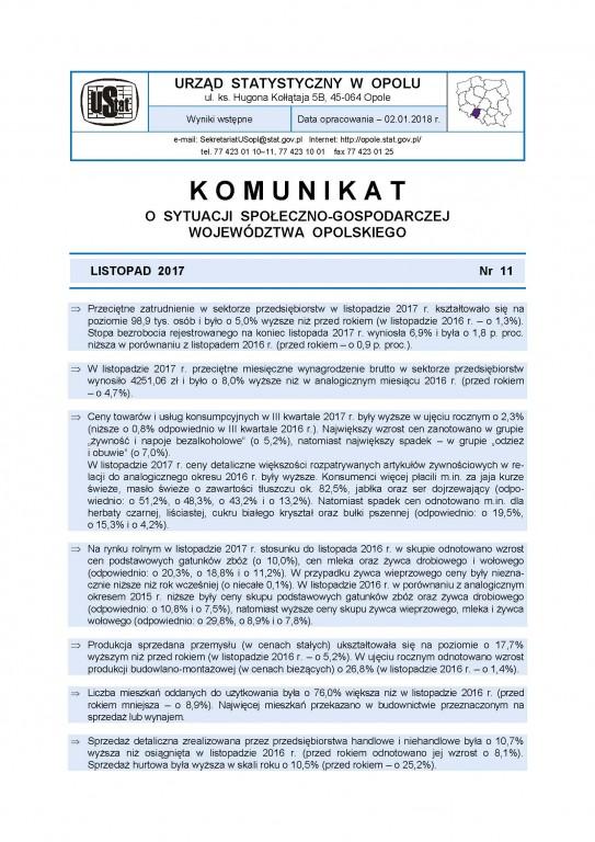 0e8fa5c9b19541 Urząd Statystyczny w Opolu / Opracowania bieżące / Komunikaty i ...